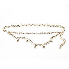 Gold Chain Belt Shop with your Avon Representative online Avon Fashion, Belt Shop, Beauty Companies, Avon Online, Double Chain, Gold Chains, Avon Products, Summer Accessories, Fashion Accessories