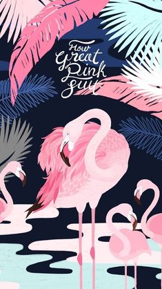 Banana leaf flamingos iphone case for iphone 6 or inch Flamingo Wallpaper, Flamingo Art, Pink Wallpaper, Screen Wallpaper, Pink Flamingos, Cool Wallpaper, Pattern Wallpaper, Tumblr Wallpaper, Wallpaper Backgrounds