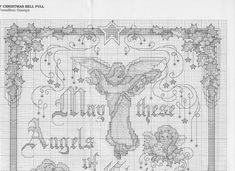 Christmas Angels Blessing - 2/8 Solo Patrones Punto Cruz (pág. 964) | Aprender manualidades es facilisimo.com Cross Stitch Angels, Cross Stitch Charts, Cross Stitch Patterns, Religious Cross, Christmas Cross, Cross Stitching, Vintage World Maps, Embroidery, Knitting