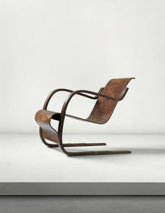 ALVAR AALTO, Early cantilevered armchair with stepped base, model no. 31, designed for the Tuberculosis Sanatorium in Paimio, Finland, 1929-1933.