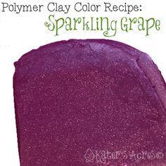 Polymer Clay Color Recipe – Sparkling Grape