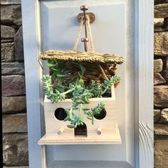 "After the tenants move out of this birdhouse, you can always fill it with succulents. Dubbed ""Home Tweet Home,"" this kit comes with its own paint and a cute woven thatched-type roof. It's a great project to do with the kids."
