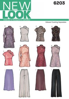 New Look 6203 Misses Special Occasion Dress Sewing Pattern