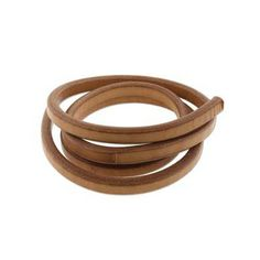 Regaliz leather cord, 10x7mm, tan,  pack of 1 meter