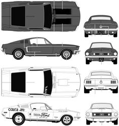 1968 Ford Mustang GT Coupe blueprint