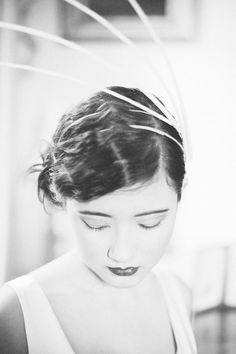 'Bright Young Things' Rachel Drewer Millinery Bridal Shoot - Make-up and Hair - Amy Callingham -Styling - Sarah Wade - Photography - Angela Ward-Brown and Ina Haslor