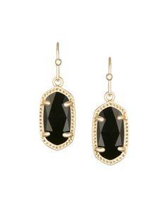 Lee Gold Earrings in Black