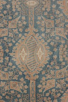 Stunning , timeworn , Indigo resist printed French fabric ~ Lovely antique c1820 ~ faded to perfection ~*~ www.textiletrunk.com