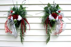 Christmas wreaths double door swags sold by Southernbornnblessed