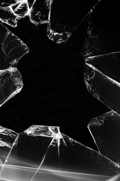 #black #broken #glass