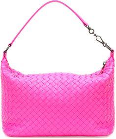 Bottega Veneta Small East-West Zip Hobo Bag, Hot Pink