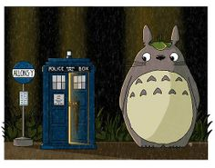 Dr. Who x Totoro mash up! https://www.facebook.com/photo.php?fbid=322947644519913&set=a.194150400732972.1073741828.193717850776227&type=1&theater
