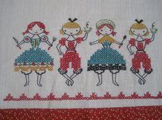 vintage embroidered towel