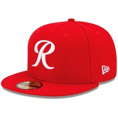 4e958757f13 Tacoma Rainers New Era Authentic Collection On Field Fitted Hat - Red