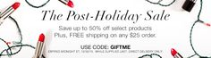 Treat yourself to the Post #AvonHoliday #Sale. Save up to 50% off selected products, Plus FREE shipping on any $25 order. Expires ET,12/30/15. #AvonRep
