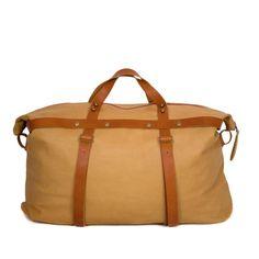 Weekender Bag in Camel Colored Leather | SPENCER DEVINE