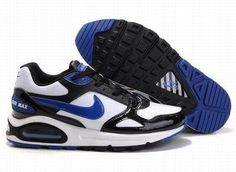 outlet store sale 3d140 3c468 NIKE AIR MAX SKYLINE MEN S RUNNING SHOE WHITE BLACK BLUE ID 1187  68.00