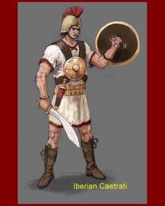 Celtiberian mercenary. Carthaginian army. A Caetrati carried a Caetra shield and often used the slashing falcata sword.