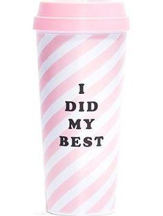 Ban.do 1 Count Hot Stuff I Did My Best Thermal Mug, Pink ❤ Ban.do
