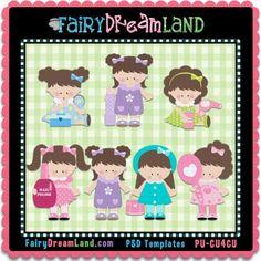 I So Pretty Cu4Cu Template Collection by FairyDreamLand.com