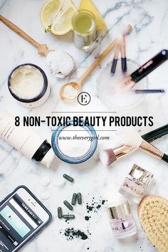 8 Non-Toxic Beauty Products to Really Love - full_make_up_pintennium Natural Beauty Tips, Clean Beauty, Natural Makeup, Natural Beauty Products, Organic Makeup, Healthy Beauty, Natural Skin, Beauty Hacks For Teens, Mouthwash