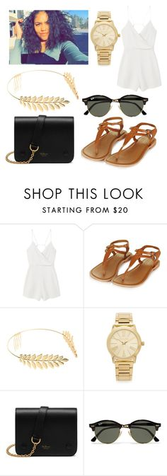 """whenever"" by kyaaross ❤ liked on Polyvore featuring MANGO, Topshop, Cara, Michael Kors, Mulberry and Ray-Ban"
