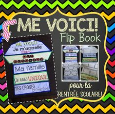 This file includes a fun and interactive French All About Me/Me Voici Flip Book for Back-to-School. The flip book includes a total of 5 pages and is very easy to cut and assemble. No glue required! French Teacher, Teaching French, Cambridge Education, Igcse Maths, Types Of Education, Music Education, Learning Cards, Core French, French Classroom