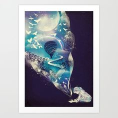 Art Print featuring Dream Big by Dan Elijah G. Fajardo
