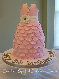 Petal Dress Cake by cakeboxsoc, via Flickr