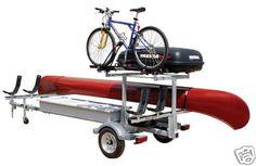 canoe trailer w/bike & cargo