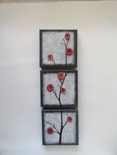 paintings on canvas acrylic paintings red blossoms by Waterblooms