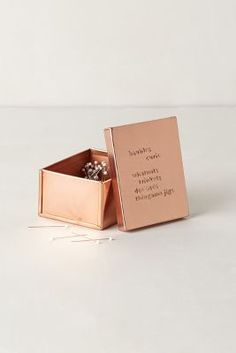Copper Desk Paperclip Box