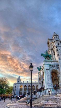 Sunset in Montmartre , Paris