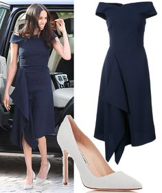 18 May 2018 - What Meghan Markle wore on eve of Royal Wedding. Click for outfit details