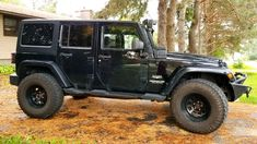 """for sale: -2011 jeep wrangler sahara unlimited -approx 155000kms (still my daily driver) -black -being sold as-is -regular oil and oil filter changes done by myself. -leather wrapped steering wheel -hill descent mode -upgraded sound system (factory) -subwoofer -automatic transmission -never been smoked in (i don't smoke) -lots of upgrades to the jeep, including: -4x35"""" goo"""