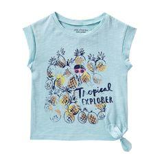 Toddler Girls' Graphic Tie Tee - Joe Fresh