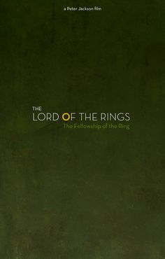 Lord of the Rings Minimalist Posters  Created by Gustavo Estrella