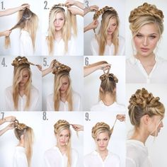 Beautiful Rope Braid Updo from @heidimariegarrett's photo on Instagram