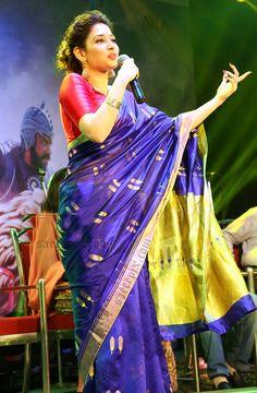 Tamanna-silk-saree-baahubali-malayalam-audio-launch