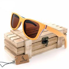 043efcc6ad781 Skateboard Wooden Sunglasses in Wooden Gift Box - Brown