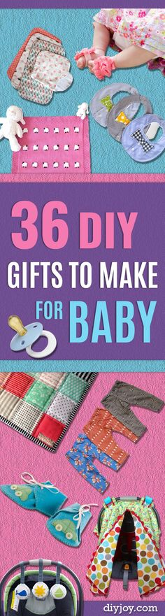 DIY Gifts for Babies - Best DIY Gift Ideas for Baby Boys and Girls - Creative Projects to Sew, Make and Sell, Gift Baskets, Diaper Cakes and Presents for Baby Showers and New Parents. Cool Christmas and Birthday Ideas http://diyjoy.com/diy-gifts-for-baby