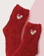 (1) Fuzzy Heart Slipper Sock – Pretty Feet Trinkets Bootie Socks, Slipper Socks, Slippers, Sock Ankle Boots, Cute Boots, Heart Patterns, Fashion Boutique, Fashion News, Womens Fashion