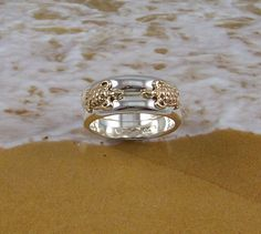 Turtles in Love, Double Turtle Ring with two 14k Gold turtles on two Sterling Silver rings by tiposcreations on Etsy https://www.etsy.com/listing/101028407/turtles-in-love-double-turtle-ring-with