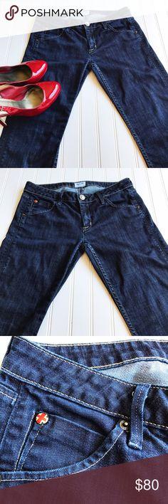 """Hudson Straight Legged Blue Jeans Hudson Straight Legged Blue Jeans   98% Cotton  2% Elastan  Flat lay measurements  Waist 15"""" Rise 7.5"""" Inseam 28"""" Hudson Jeans Jeans Straight Leg"""