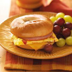 Bagel Omelet Sandwich