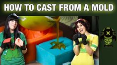 The creative cosplay ladies of Crabcat Industries, Holly Conrad and Jessica Merizan, show how to make a mold, presented by Heroes of Cosplay on SyFy. Cosplay Weapons, Cosplay Armor, Cosplay Diy, Halloween Cosplay, Cosplay Ideas, Costume Tutorial, Cosplay Tutorial, Prop Making, Mold Making
