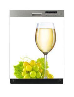 Naklejka na zmywarkę - Kieliszek białego wina 6519