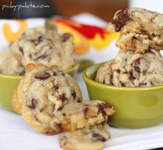 Almond chocolate chip cookies - have had this recipe in my bookmarks forever, and I can't wait to have my own kitchen again so I can eat them all up