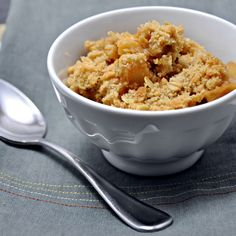 Tipsy Pear and Apple Crisp - Pinch and Swirl