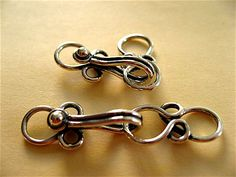 2 Bali Sterling Silver Twisted Wire Clasp 33mm on Etsy, $7.75